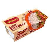 arroz redondo tradicional cocido para guarnición