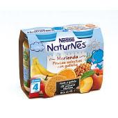 Merienda de frutas selectas con galleta a partir de 4 meses