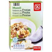 Cereales muesli crujiente con frutas paquete 500 gr