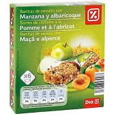 Barritas de cereales con manzana y albaricoque
