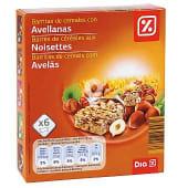 Barritas de cereales muesli con avellana estuche 150 gr