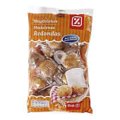 Magdalenas redondas envasadas individualmente bolsa 615 gr