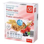 Barritas cereales integral frutos rojos
