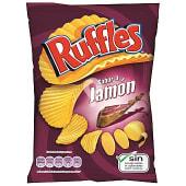 Patatas fritas onduladas jamón