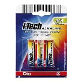 Pilas AAA i-tech alkaline pack 4 ud