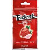 Chicles trident fresa bolsa 30 grageas