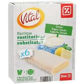 Barritas de cereales sabor yogur y limón caja