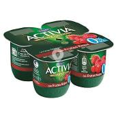 Yogur desnatado con frutos rojos 0% materia grasa