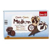 Helado cono mediano nata y chocolate caja