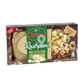 Pizza rustipani queso provolone y crema de ricotta caja