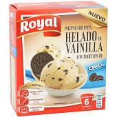 Preparado para helado de vainilla con trocitos de Oreo 6 raciones