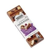 Chocolateria chocolate con leche con pasas, avellanas y almendras