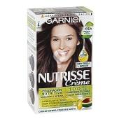 Creme tinte Cacao Castaño nº 4 coloracion nutritiva caja 1 unidad cabello brillante y sedoso