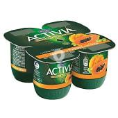Yogur de frutas exoticas con mango y papaya con un toque de soja 1%