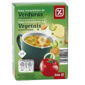 Sopa instantánea de verduras con picatostes caja