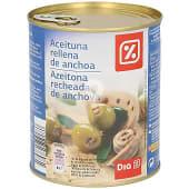 Aceitunas rellenas de anchoas