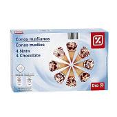Helado conos medianos nata y chocolate caja