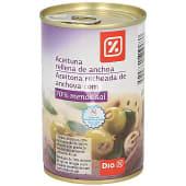 Aceitunas rellenas de anchoa 70% menos de sal