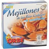 Mejillones de las rías gallegas en escabeche