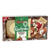 Pizza rustipani queso mozzarella y pesto caja