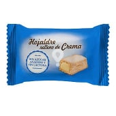 Hojaldre de crema sin azúcar y sin lactosa