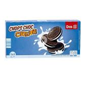 Galletas de chocolate rellenas de crema caja