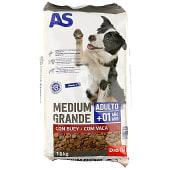 Alimento para perros adultos con buey