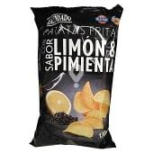 Patatas fritas lisas sabor limón y pimienta