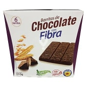 Barritas de chocolate con fibra