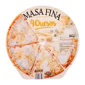 PIZZA CONGELADA 4 QUESOS MASA FINA Y CRUJIENTE (MOZZARELLA, EDAM, GORGONZOLA, EMENTAL)