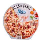 Pizza congelada atun y cebolla caramelizada masa fina y crujiente