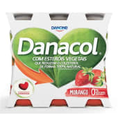 Danacol Reduz Colesterol Morango Danone (emb. 6 x 100 gr)