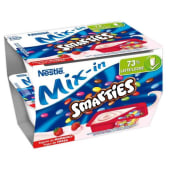 Iogurte Infantil Bicompartimentado Mix-in Morango com Smarties Nestlé (emb. 2 x 128 gr)