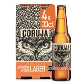 Coruja American Amber Lager (emb. 4 x 33 cl)