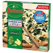 Pizza espinacas y queso