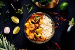 Tajskie Curry z krewetkami