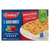 Findus, I Gratinati merluzzo d'Alaska con pomodoro e basilico surgelati 380 g