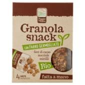Poggio del Farro, Granola snack con Farro Germogliato fave di cacao noccile mirtilli conf.4x20 g
