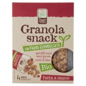 Poggio del Farro, Granola snack con Farro Germogliato mirtilli rossi noci semi di lino conf.4x20 g