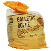 Galleta gofre rellena de caramelo