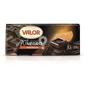 Chocolate negro con naranja