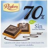 Galleta de chocolate 70% sin azúcar