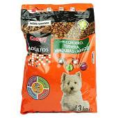 Comida perro seca con cordero ternera verdura y arroz adulto razas pequeñas