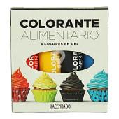 Colorante alimentario gel (4 colores para masas y toppings)