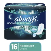 Always Toalla Verde Ultrafina Nocturna X16