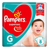 Pampers Pañal Supersec Regular Talle G