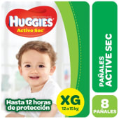 Huggies Pañal Active Sec Regular Talle Xg