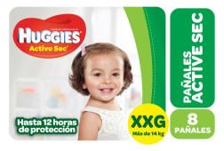 Huggies Pañal Active Sec Regular Talle Xxg