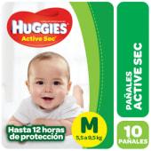 Huggies Pañal Active Sec Regular Talle M
