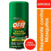 Off Aerosol Repelente Extra Duracion Active X 165 Cm3